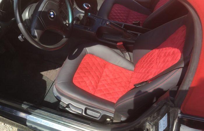 Personnalisation sellerie BMW Z3 par la sellerie minot